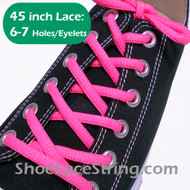 Neon Pink 45INCH Oval Shoe Laces Sneaker Strings 1 Pairs