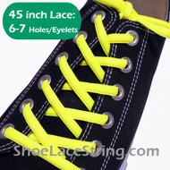 Neon Yellow 45INCH Oval Shoe Laces Sneaker Strings 1 Pairs