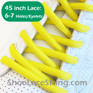 Bright Yellow 45INCH Oval Shoe Laces Sneaker Strings 1 Pairs