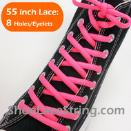 Neon Pink 55INCH Oval Shoe Laces Sneaker Strings 1 Pairs