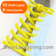 Bright Yellow 55INCH Oval Shoe Laces Sneaker Strings 1 Pairs