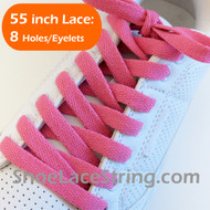 Fuchsia Pink 55INCH Flat ShoeLaces Shoe Strings  1 PAIRs