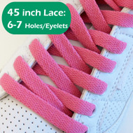 Fuchsia Pink 45INCH Flat Shoe Laces Shoe Strings 1 PAIRs