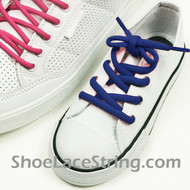 Blue Kid's/27INCH Oval ShoeLace Blue Oval ShoeString 1 Pairs