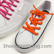 Orange Kid's/27INCH Oval ShoeLace Orange Oval ShoeString 1 Pairs