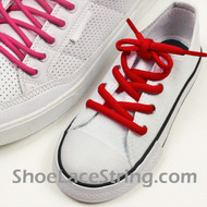 Red Kid's/27INCH Oval ShoeLace Red Oval ShoeString 1 Pairs
