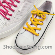 Yellow Kids/27INCH Oval ShoeLace Yellow Oval ShoeString 1 Pairs