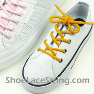 Gold Yellow Kids/27INCH Round ShoeLace ShoeString 1 Pairs