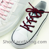 Maroon Kids/27INCH Round Shoe Lace Burgundy ShoeString 1 Pairs
