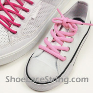 Light Pink Kids/27INCH Oval ShoeLace Pink Oval ShoeString 2Pairs