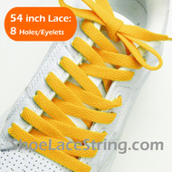 Golden Yellow 54INCH Shoe Laces Gold Yellow Shoe Strings 1 Pairs