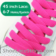 Hot Pink Flat Fat/Wide 45INCH ShoeLaces ShoeStrings 1 PRs