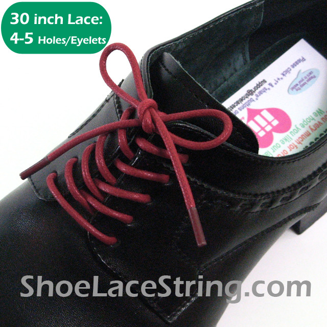 Maroon 30INCH Dress Shoe Laces Round