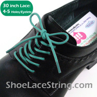 Turquoise Blue 30INCH Dress Shoe Lace Round Shoe Strings, 1PAIR