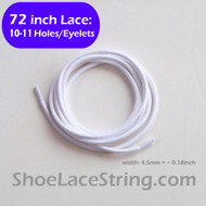 72INCH White Round Shoe Laces Boots Sneaker Strings, 1PAIR