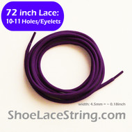 72INCH Purple Round Shoe Sneaker Laces Boots Strings, 1PAIR
