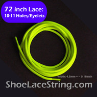 72INCH Neon Yellow Round ShoeLaces Boots Sneaker Strings, 1PAIR