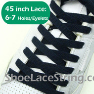 Navy Blue 45INCH Flat ShoeLaces Navy Shoe Strings 1 Pairs