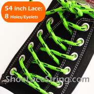 Neon Green Navy 54INCH Round Shoe Laces Round ShoeStrings 1 Pairs