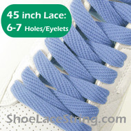 Light Blue Flat Wide FAT 45INCH ShoeLaces Sneaker Strings 1PRs