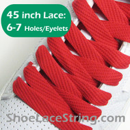 Red 45IN Flat Wide/FAT Shoe Laces Sneaker Strings 2Pairs