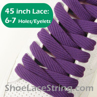 Purple 45INCH Flat Wide/FAT Shoe Laces Sneaker Strings 2Pairs