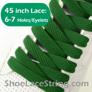 Green 45INCH Flat Wide/FAT Shoe Laces Sneaker Strings 1 Pairs
