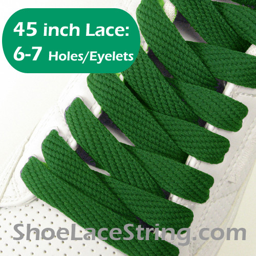 Green 45INCH Flat Wide/FAT Shoe Laces