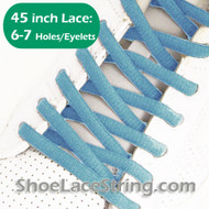 Light Blue 45inch Oval Shoe Laces ShoeString 1 Pairs