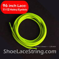 96INCH Neon Yellow Round Boots/Sneaker/Shoe Laces Strings, 1PAIR