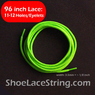 "96"" Neon Green Boot/Sneaker/Skate Round ShoeStrings, 1PAIR"