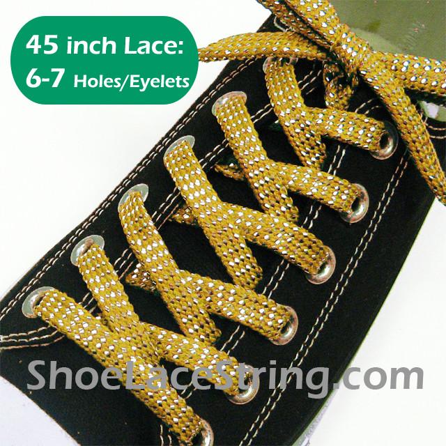 golden shoe laces cheap online