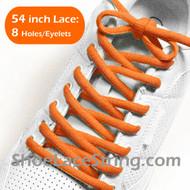 Orange 54INCH Oval Shoe Lace Orange Oval Shoe String 1Pairs