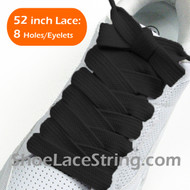Black Extra Fat Laces Super Wide/Fat Shoestring 52INCH 1 Pairs