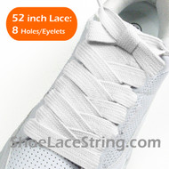 White Extra Fat Laces Super Wide/Fat Shoestring 52INCH 1 Pairs