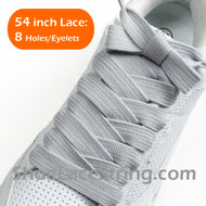 Light Gray Extra Fat Laces Super Wide/Fat Shoestring  1 Pairs