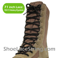 Black & Old Gold 71IN Work/Combat Boots Round Laces 1PAIR