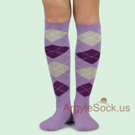 Spotlight Hosiery Brand Elite Quality Women's Argyle Knee Socks (Non-Athletic)