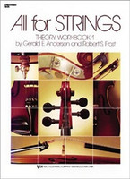 All For Strings Theory Workbook 1 Double Bass, by  Gerald Anderson, Robert Frost for Double Bass, Publisher  Neil A. Kjos Music Company
