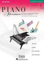Piano Adventures Level 1 - Theory Book 2nd Edition, by  Nancy Faber Randall Faber for Piano, Publisher  Faber Piano Adventures