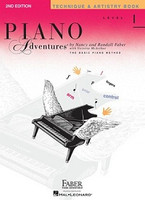 Piano Adventures Level 1 - Technique & Artistry Book 2nd Edition, by Nancy Faber Randall Faber for Piano, Publisher  Faber Piano Adventures
