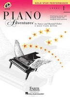Piano Adventures Level 1 - Gold Star Performance with CD, by Nancy Faber Randall Faber for Piano, Publisher  Faber Piano Adventures