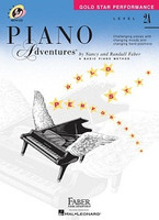 Piano Adventures Level 2A - Gold Star Performance with CD, by Nancy Faber Randall Faber for  Piano, Publisher  Faber Piano Adventures