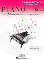 Piano Adventures All-In-Two Level 1 Lesson & Theory Book WITH CD, by Nancy Faber Randall Faber for Piano, Publisher  Faber Piano Adventures