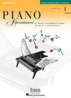 Piano Adventures Level 4 - Performance Book 2nd Edition, by  Nancy Faber Randall Faber for Piano, Publisher  Faber Piano Adventures