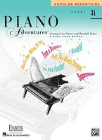 Piano Adventures Level 3A - Popular Repertoire Book, by  Nancy Faber Randall Faber for  Piano, Publisher  Faber Piano Adventures