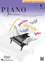 Piano Adventures Level 3B - Popular Repertoire Book, by  Nancy Faber Randall Faber for Piano, Publisher  Faber Piano Adventures
