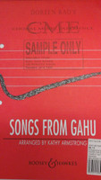 Songs From Gahu arranged by Kathy Armstrong for trble voice,70% off