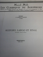 Suite Dórchestre En Ut, Bourree in B flat by J.S.Bach for E flat saxophone,70% off