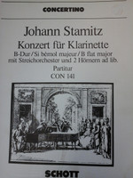 CONCERTINO FOR CLARINETTO AND TWO CORNI IN B MAJOR BY J.STAMIZ,70% OFF